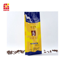 Quad-sealed Packaging Bag with Side For 16OZ Coffee
