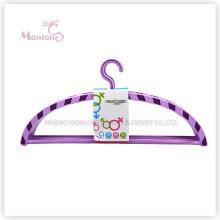 PP plástico arco em forma de roupa cabide conjunto de 4 (45 * 21cm)