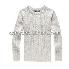 PK17ST215 mode vêtements câble tricoté pull homme