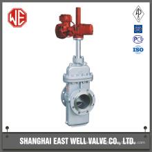Steel plate gate valve