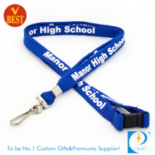 Custom Promotional Printed Tubular Lanyard with Carabiner Hook (LN-0147)