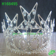 Wholesale Cheap clear Rhinestone star pageant crowns