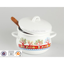 sgs enamel flower pot for soup and cooking sgs enamel flower  pot for soup and cooking