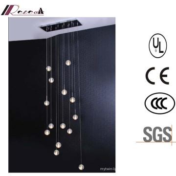 Lampe de plafond en verre à bulles solides pour projet d'hôtel