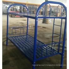 Utilisation du travail en acier lit bleu couleur pas cher prix en métal lit superposé