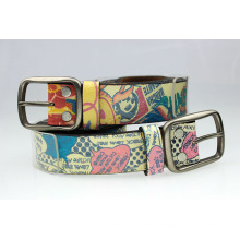 Stock !!!cheap leather custom printed leather belts