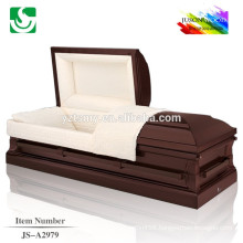 Hot selling wholesale American style cherry wood caskets