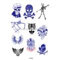 Модный Хэллоуин тема человека боди-арт временные татуировки с заводской цене