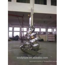 Высокая зеркальная полировка больших наружных абстрактных скульптур