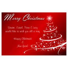Cartes de vœux avec papier spécial