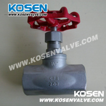 BSPT/NPT End Rising Stem Stainless Steel Globe Valve
