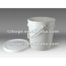 cubo de plástico de inyección con molde de tapas