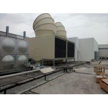 Jn-400d Torre de refrigeración de agua cuadrada de flujo cruzado con campana de ventilador