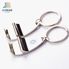 Kostenlose Design Zamak Talon Custom Logo Metall Flaschenöffner mit Schlüsselanhänger