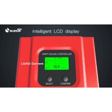 Bluesun 12V 24v 36v 48v 30a 40a 50a 60a mppt kit de controlador de carga solar pantalla led de uso