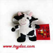 Plush Farm Cow Key Ring