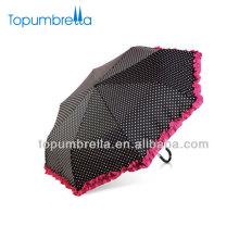 Regenschirm der faltenden weißen Minispitzenschirms der Sonnenschirmschirmmädchenschönheit lila