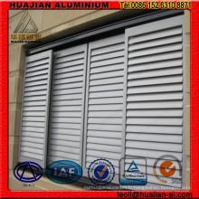 Fenêtres fixes en obturation en aluminium