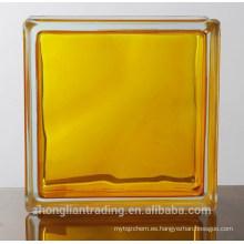Material de construcción colorido al por mayor decorativos fabricantes de bloques de vidrio