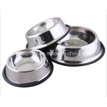 Skidproof Stainless Steel Pet Bowl
