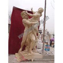Escultura de mármol estatua antigua escultura tallada piedra para decoración de jardín (SY-X1191)