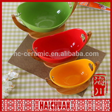 Céramique ronde etuve verte avec couvercle en silicone Boîte à lunch Boîte à maca japonaise