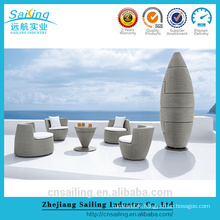 Promotion 100% Handmade resin patio set bullet stackable rattan garden furniture