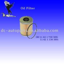Elemento filtrante de aceite 11 42 1 730 389 para BMW