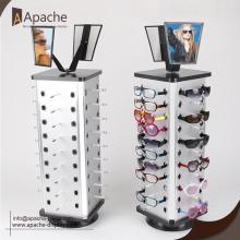 Chinese Professional for Sunglasses Display Rack,Glass Counter Display,Sunglasses Display Stand Manufacturers and Suppliers in China Rotatable Sunglasses Floor Display With Mirror export to Aruba Exporter