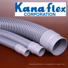 Kanaflex de peso ligero y tubo flexible de PVC flexible de aire. Hecho en Japón (manguera de conducto)