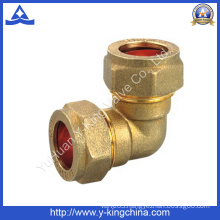 Brass 90 Degree Fitting with Compression Both Ends (YD-6040)