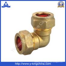 Brass 90 graus de montagem com compressão ambas as extremidades (YD-6040)