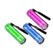 Mini lampe de poche 9LED avec batterie 3AAA
