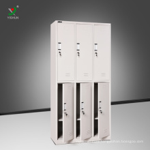 Gym storage furniture knock down metal 6 door locker for changing room