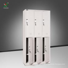 Mobília de armazenamento de ginásio derrubar metal 6 porta armário para vestiário