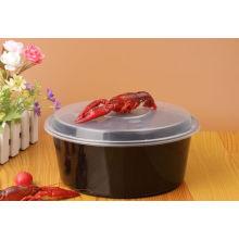 Récipients alimentaires en plastique ronds microwavable jetables de petit pp pour la nourriture