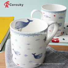 Taza de café de cerámica taza de china de hueso nueva
