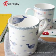 Caneca de café cerâmica caneca nova da porcelana de osso
