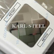 Feuille gravée par Ket010 de couleur de l'acier inoxydable 304 de haute qualité