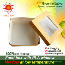 food box with antifogging window