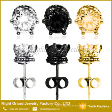 5mm,6mm, 6 Claws prong setting Round Cubic Zircon Earrings