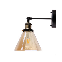 Lámpara de luz interior de apliques de pared de vidrio de bronce