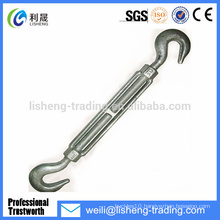 Forged U.S Type Carbon Steel Hook And Hook Wire Rope Turnbuckles