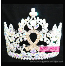 top quality colorful ribbon luxurious crystal tiara