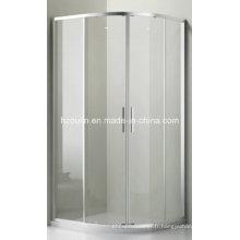 Salle de douche en verre transparent (E-01 verre transparent sans plateau)