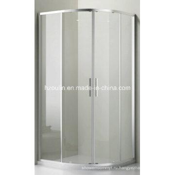 Прозрачное стекло душевой кабины (Э-01 прозрачное стекло без поддона)