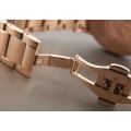 Classical Gold Watch Rose Gold Bracelet Business Nouveau Riche Luxury Fashion Three Eye Chronograph Quartz Men′s Watch