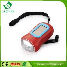 2015 novo estilo mini 3 conduziu lanterna solar dínamo para a promoção