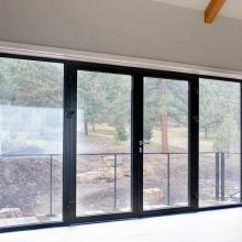 Preço de fábrica interno duplo howmet vidro de alumínio portas holandesas