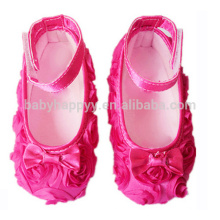 Fancy Girls Pink flowers Dancing Shoes Baby Super Cheap Shoes